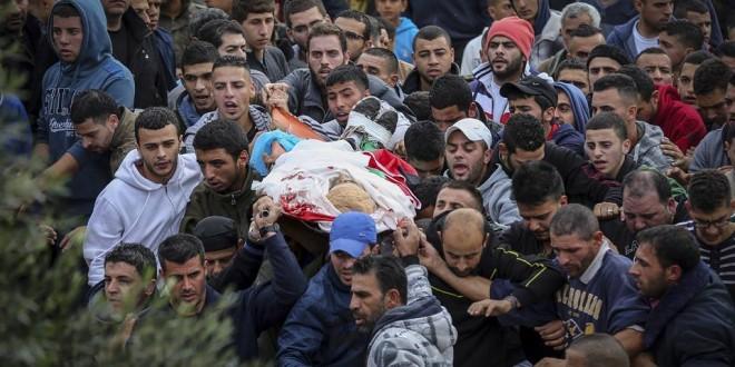 محافظة رام الله تشيع جثمان الشهيد يحيى طه