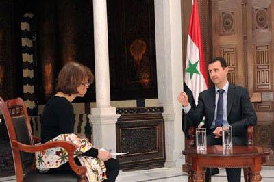 الرئيس الأسد في مقابلة مع صحيفة