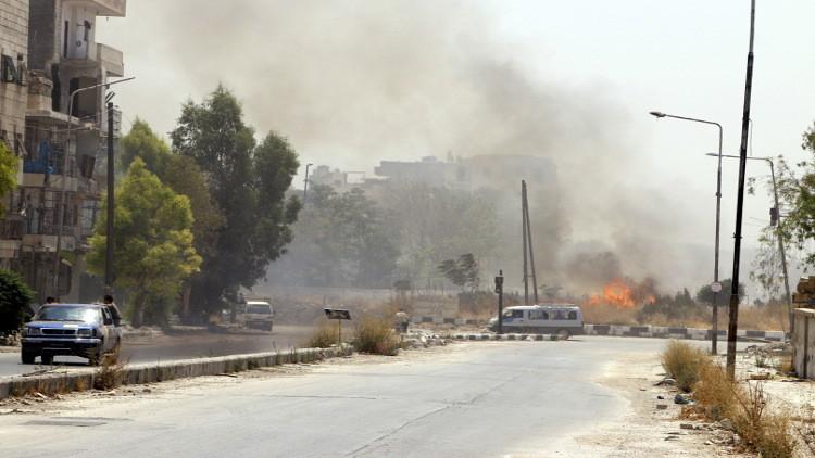 الجيش السوري يصل إلى طريق حلب دمشق الدولي