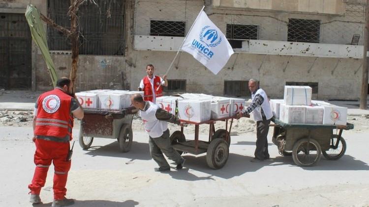 دمشق توافق على إدخال مساعدات إنسانية إلى مضايا المحاصرة