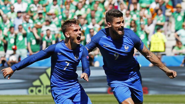 فرنسا تبدد أحلام إيرلندا وتبلغ ربع النهائي ..