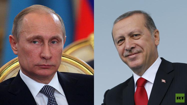 أردوغان لبوتين: أتمنى عودة العلاقات إلى مجاريها