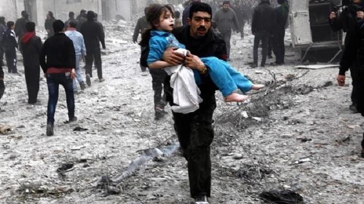 دمشق: مقتل 120 مدنيا في غارات للقوات الجوية الفرنسية على قرية بمحيط منبج