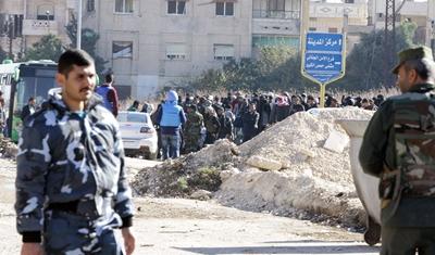 الأمم المتحدة تعرقل خروج المسلحين من حي الوعر