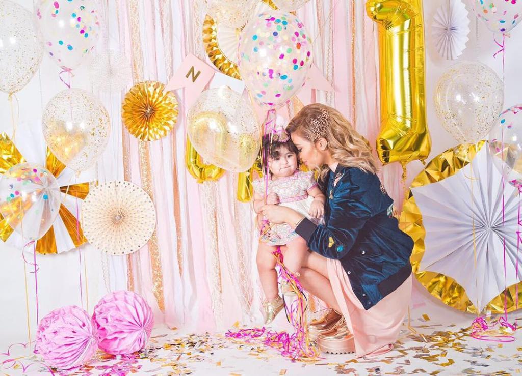 زياد برجي وزوجته احتفلا بعيد ميلاد ابنتهما