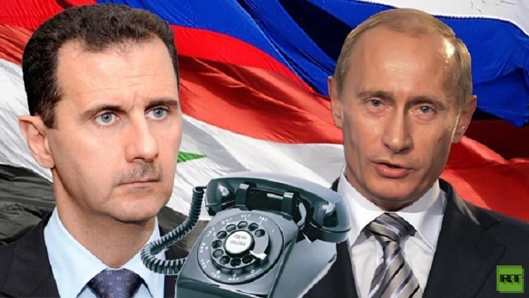 سانا: الأسد يتلقى اتصالا هاتفيا من بوتين