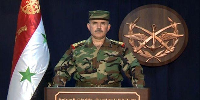 القيادة العامة للجيش: قواتنا المسلحة بالتعاون مع القوات الحليفة تنجز المرحلة الأولى من عملياتها العسكرية بالبادية السورية وتصل إلى الحدود مع العراق الشقيق