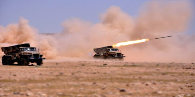 الجيش العربي السوري يستعيد السيطرة على 1400 كم مربع في البادية السورية ويعيد الأمن والاستقرار إلى 22 قرية ومزرعة بريف حلب الجنوبي الشرقي