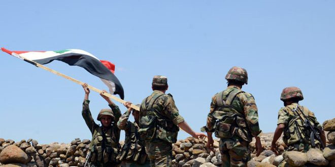 """الجيش العربي السوري يستعيد السيطرة على منطقة الضليعيات على مشارف الحدود الإدارية بين محافظتي حمص ودير الزور ويقضي على أعداد كبيرة من إرهابيي """"داعش"""""""