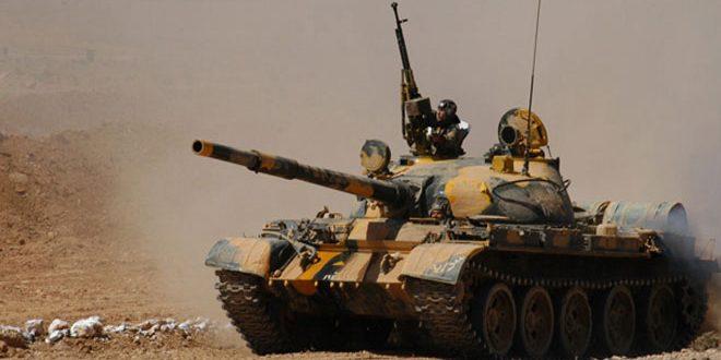 """وحدات من الجيش العربي السوري تسقط طائرة مسيرة لتنظيم """"داعش"""" وتقضي على عدد من إرهابييه بينهم مرتزقة سعوديون وكويتيون ومغاربة في دير الزور"""