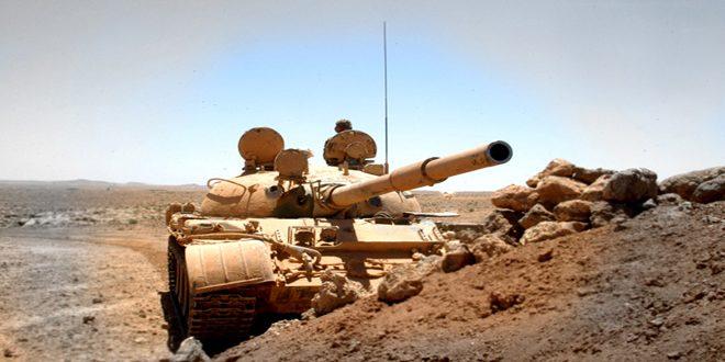 """الجيش العربي السوري يوجه ضربات قاصمة لإرهابيي """"داعش"""" ويقضي على العديد منهم في دير الزور"""
