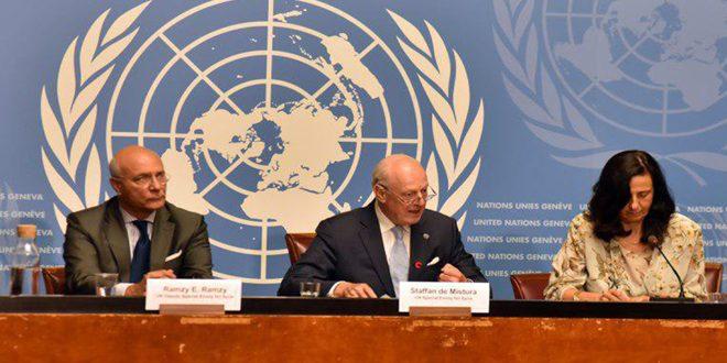 دي ميستورا خلال مؤتمر صحفي في جنيف: حققنا خطوات كبيرة… الإرهاب الملف الأهم الذي نوقش ونتوقع تكثيف الجهود لمحاربته-