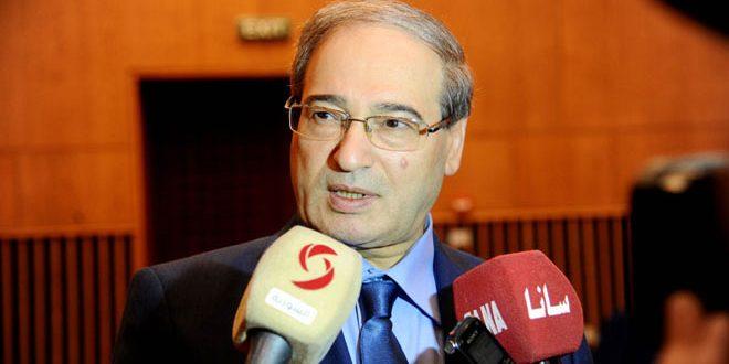 المقداد لوفد لائحة القومي العربي الأردني: سورية منتصرة في الحرب على الإرهاب