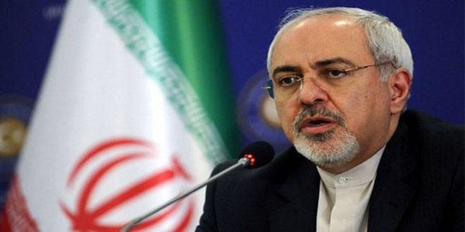 ظريف يؤكد سعي إيران الدائم لحل الأزمة في سورية