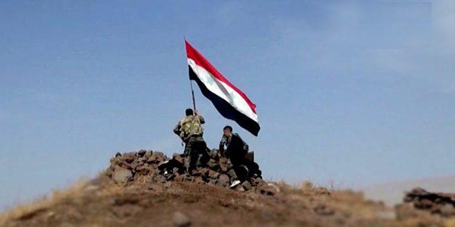 """الجيش العربي السوري يحكم سيطرته على عدد من النقاط والتلال الحاكمة بريف تدمر ويحبط هجوماً لإرهابيي """"داعش"""" في دير الزور"""