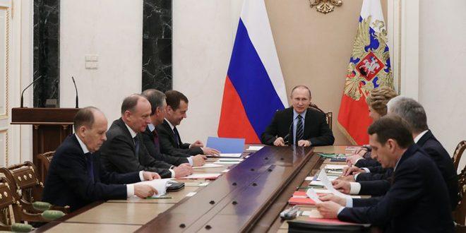 مجلس الأمن القومي الروسي يبحث إقامة مناطق تخفيف التوتر في سورية..لافروف لتيلرسون: نأمل أن يعود الجانب الأمريكي إلى رشده