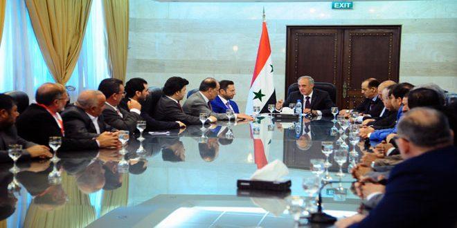 سوسان لوفد اللجنة الاغترابية السورية بالكويت: أهمية دور المغتربين في مرحلة إعادة الإعمار