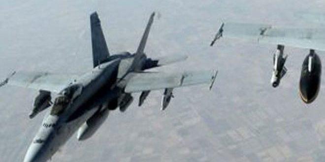 """طيران """"التحالف الأمريكي"""" يرتكب مجزرة جديدة بحق المدنيين في ريف دير الزور راح ضحيتها 18 شهيدا على الأقل"""
