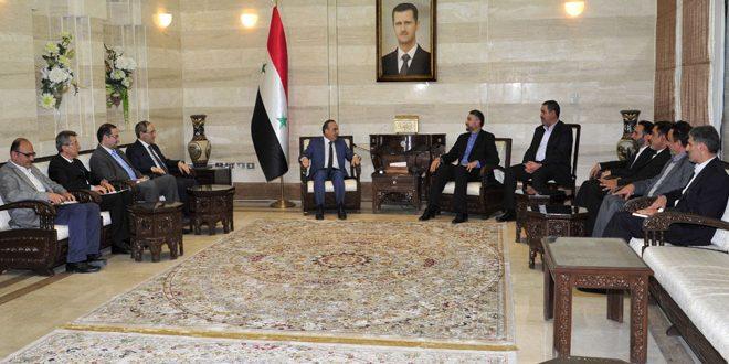 المهندس خميس لــ عبد اللهيان: تعزيز التبادل التجاري بين سورية وإيران وإطلاق استثمارات جديدة