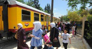 قطار النزهة بين دمشق والزبداني إلى العمل خلال أيام