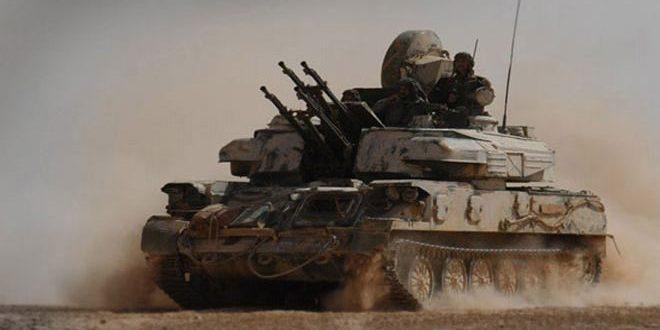 الجيش العربي السوري يقضي على العديد من إرهابيي تنظيم (داعش) ويوجه ضربات مكثفة على تجمعاته ومقراته بدير الزور