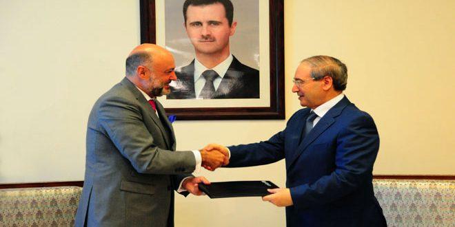 المقداد للممثل الجديد لمكتب اليونيسيف: دعم برامج المنظمة الموجهة للسوريين والأطفال بشكل خاص