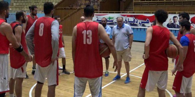 منتخب سورية لكرة السلة يتابع تحضيراته لتصفيات كأس العالم