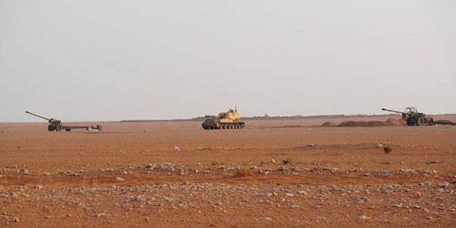 الجيش يوجه ضربات مكثفة على تجمعات إرهابيي داعش في محيط البوكمال ويدمر آخر تحصينات (جبهة النصرة) في قريتي الحازم وربدة بريف حماة