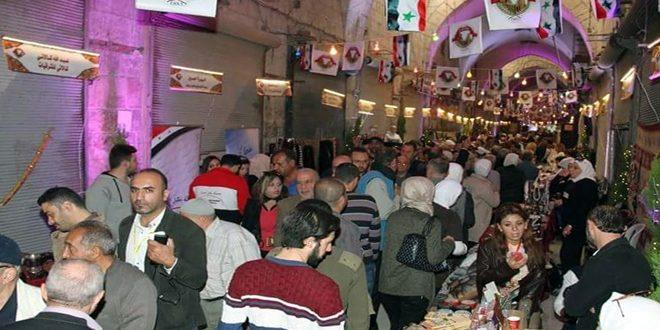 آلالاف من الحلبيين يتسوقون بمحبة وطن