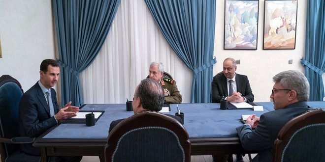 أمام الرئيس الأسد.. أيوب ويوسف وسارة يؤدون اليمين الدستورية وزراء للدفاع والصناعة والإعلام