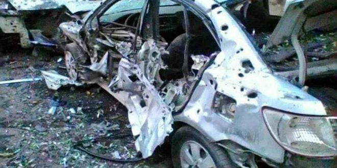إصابة مدني جراء اعتداءات إرهابية بالقذائف على ضاحية حرستا السكنية