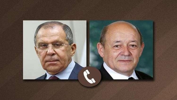 لافروف يبحث مع لودريان الأزمة السورية