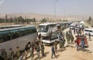 دفعة أولى من المسلحين وعوائلهم تغادر حرستا في الغوطة الشرقية