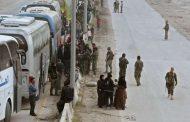الدفعة الثانية من مسلحي حرستا وعائلاتهم تغادر الغوطة الشرقية إلى إدلب