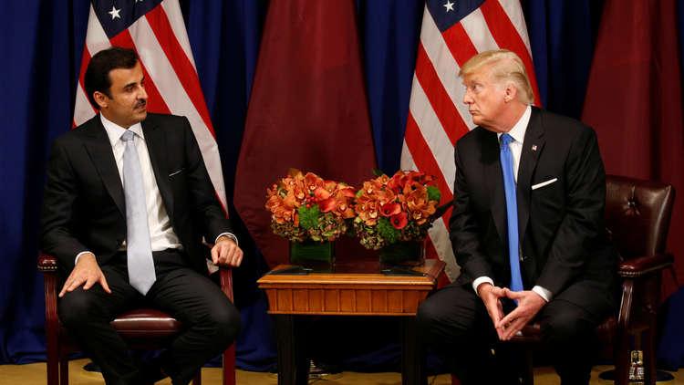 ترامب والأمير تميم في البيت الأبيض لبحث تعزيز العلاقات الثنائية بين البلدين